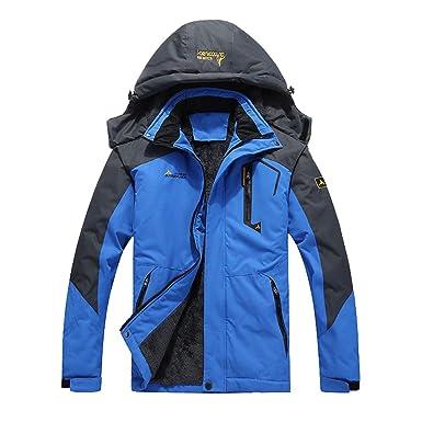 deb947177 Amazon.com: Unisex Outdoor Jacket Waterproof Hooded Plus Size Plus Velvet  Thick Warm Jacket Men and Women Ski Mountaineering Suit: Clothing