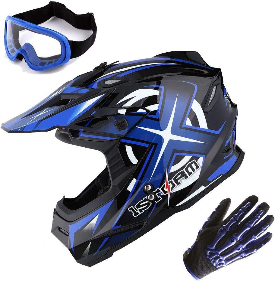 Adult Motocross Off Road HELMET BMX Style MX Dirt Bike Quad MTB DH Racing 2019 *