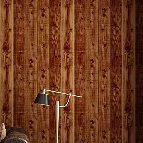 Blooming Wall Textued Wood Plank Log Wallpaper for Rolls Home Decoration,57 Sq. Ft/Roll, - Wall Log