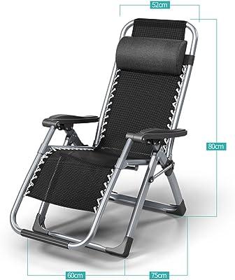 Folding Chairs Siesta Recliner Office Sandy Beach Leisure Chair Summer Home Nap (Color : A)