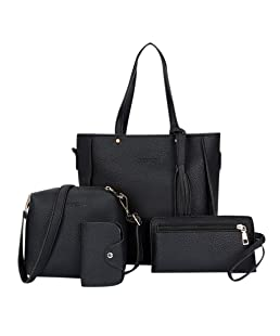 DDKK Bags,Woman Bag 2019 New Fashion Four-Piece Shoulder Bag Messenger Bag Wallet Handbag