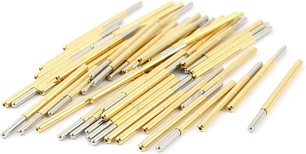 uxcell 50 Pcs P125-J 1.7mm Spherical Tip Spring Test Probes Pin 33.3mm Long