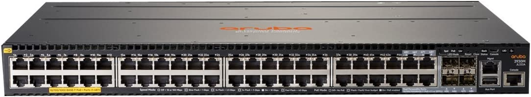 HP JL322A Aruba 2930M 48G POE+ 1-Slot - Switch - L3 - managed - 44 x 10/100/1000 (PoE+) + 4 x combo Gigabit SFP - rack-mountable - PoE+ (1440 W) -