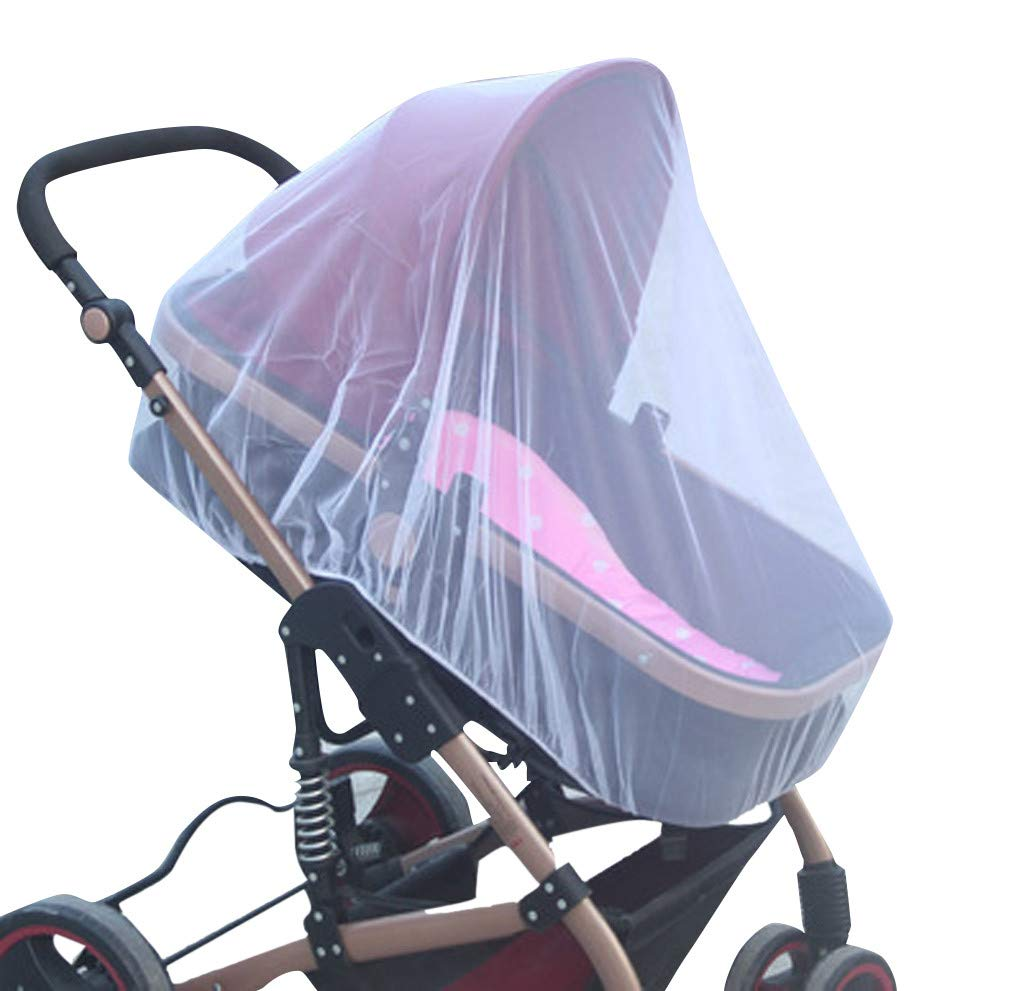 Tantisy ♣↭♣ Baby Netting Children Kids Stroller Net Mesh Insect Buggy Cover for Baby Infant Safety White