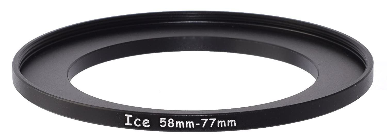 ICE 58mm to 77mm Step Up Ring Filter Lens Adapter 58 male 77 female Stepping