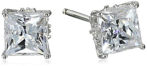 Myia Passiello Timeless Swarovski Zirconia Princess Clad Stud Earrings