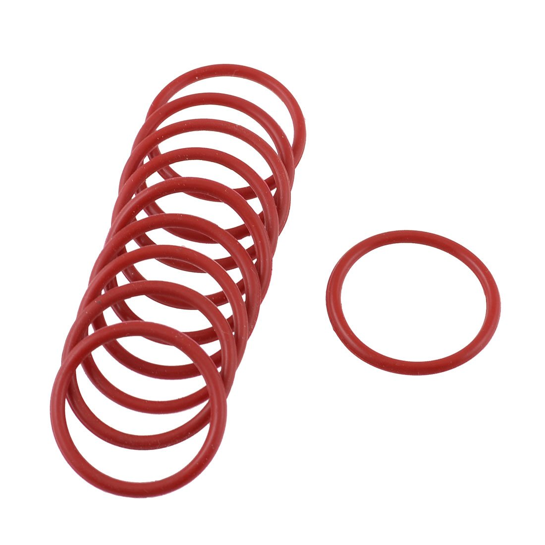 sourcingmap® 50 Pcs 12mm x 8mm x 2mm Rubber O Ring Oil Seal Gasket Replacement Red a14091900ux0057