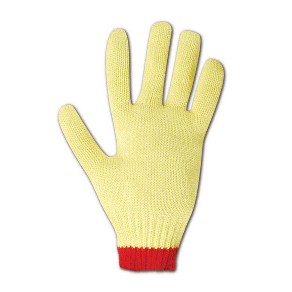 Magid Glove & Safety C590KV-7 Magid Cut Master C590KV Heavyweight Seamless Knit Gloves, Made with DuPont Kevlar 1000, Yellow , Small (Pack of 12)