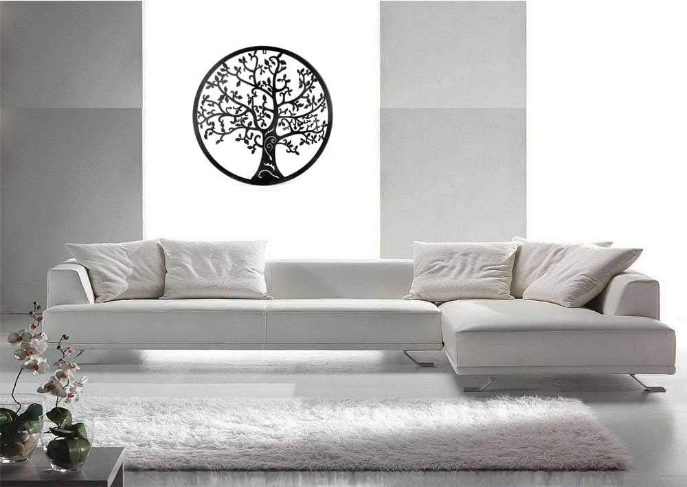 Quadro in metallo da parete ALBERO DELLA VITA mandorlo stile Klimt 60 cm Scultura da muro shabby industrial complemento Arredo soggiorno salotto camera da letto cucina ufficio