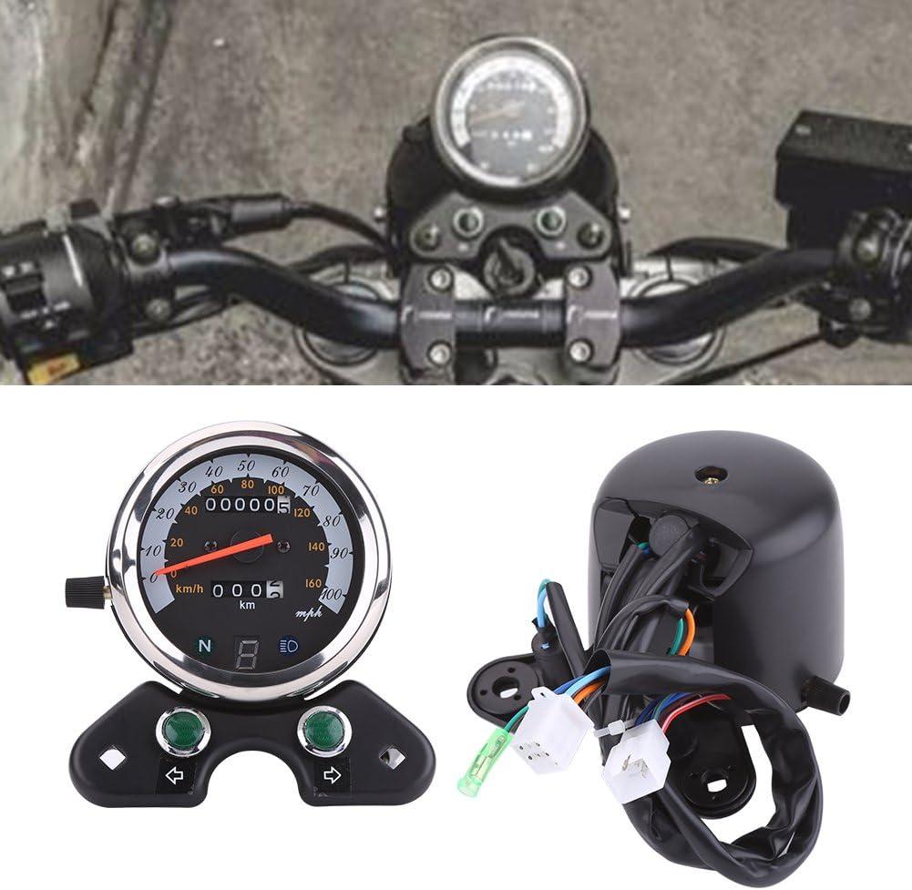 dlll universel pour moto vitesse tachym/ètre odom/ètre compteur Rev 0 13000/tr//min lumi/ère nocturne de pour ATV Moto Harley Honda Yamaha Suzuki Kawasaki Croiseurs Harley