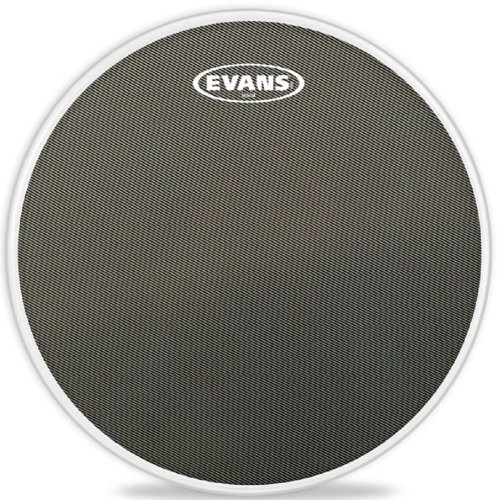 13 Inch Marching Snare Drum - Evans Hybrid Grey Marching Snare Drum Head, 13 Inch