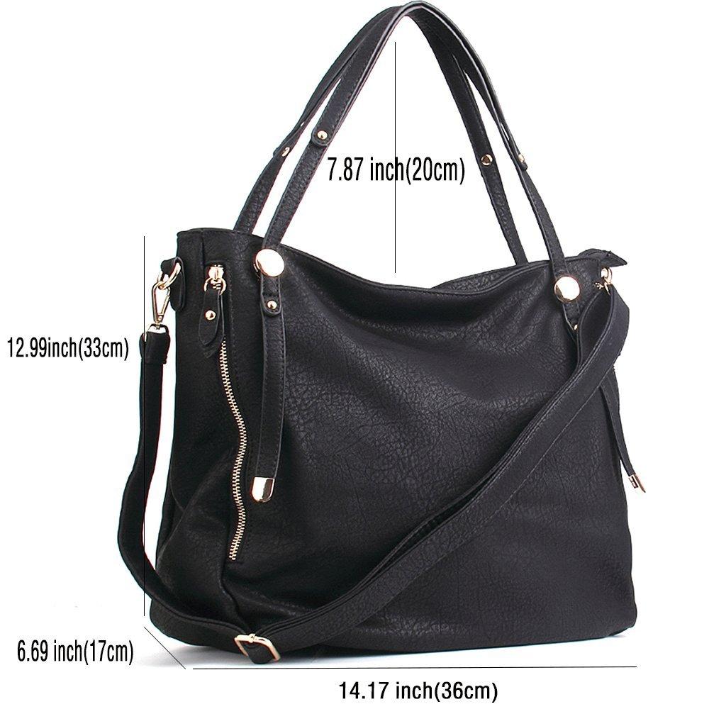 471abb05b6a WISHESGEM Women Handbags PU Leather Tote Shoulder Bags Satchel Zipper Cross  Body Bags