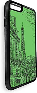 Abstract drawing of Paris in different colors Printed Case for iPhone 7 Plus