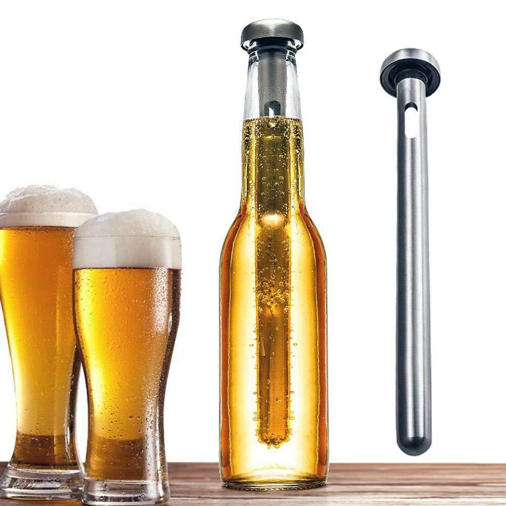 Stainless Steel Beer Chiller Stick for Bottles, Portable Soda, Wine Cooler, Beverage Cooling Rod, Pack of 2, JADACA