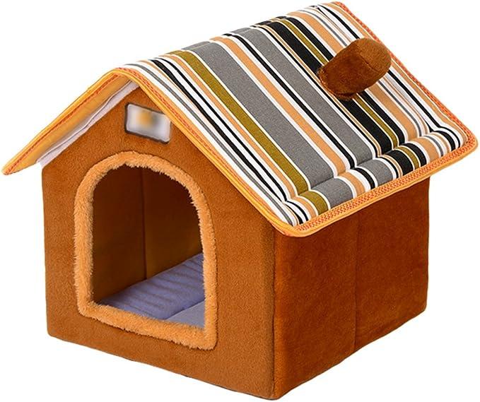 Lifemaison Cuccia Letto per Animali Domestici Canile Estraibile e Lavabile Letto per Cane Gatto 1 PCS 80cmx65cmx17cm, caff/è Marrone