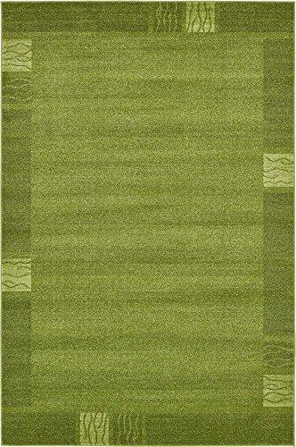 Contemporary Green Indoor Rugs - Unique Loom Del Mar Collection Contemporary Transitional Light Green Area Rug (6' 0 x 9' 0)