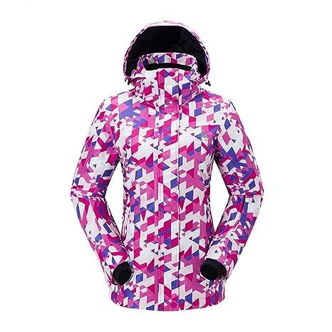 ChenYongPing Chaqueta de esquí Chaqueta de esquí para Mujer ...