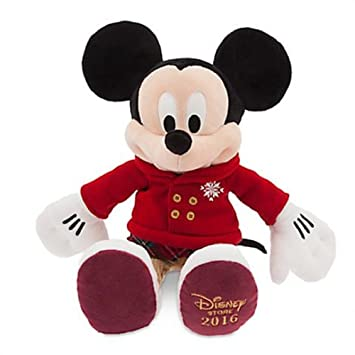 DISNEY STORE PLUSH HOLIDAY CHRISTMAS MICKEY MOUSE 2016 ~ SHARE THE MAGIC ~ 16""