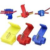 Leadrise 125 Solderless Quick Splice Snap Wire Connector, 50 pcs red 22 Through 18 Gauge,50 pcs Blue 16 Through 14 Gauge…