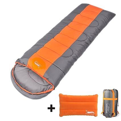 Saco de dormir con saco de almohada comprimible – sobre ligero comodidad para 3 estaciones,