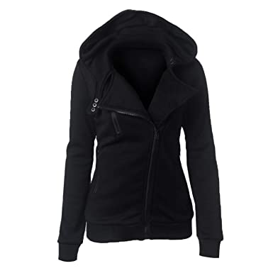 Women Hoodies Casual Long Sleeve Zipper Sweatshirts Sportwear Outwear Mujer Sudaderas at Amazon Womens Clothing store: