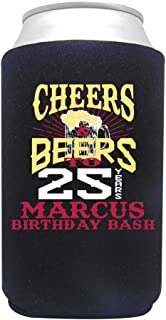 product image for Personalized Can Cooler Custom Can Coolies – Birthday Can Coolies - Fits 12-Ounce Cans and Bottles – Keeps Drinks Cold for Longer – Ideal for Travelling, Party Favors Cheers & Beers 2 24 pack