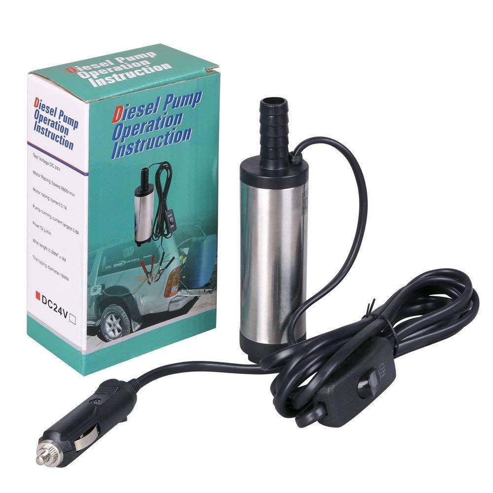 Caravanas Motores y Marinas y Lanchas R/ápidas flintronic Bomba de Combustible 12V Aceite, Transferencia de Auto Diesel o Recarga de Combustible para Autocaravanas Bomba de Drenaje de Agua