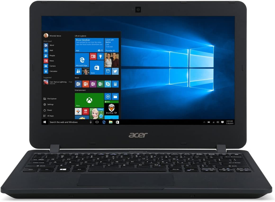 Acer High Performance 11.6inch HD Laptop, Intel Celeron Processor, 4GB RAM, 64GB Storage, Intel HD Graphics, WiFi, Bluetooth, HDMI, Win10 Pro (Renewed)