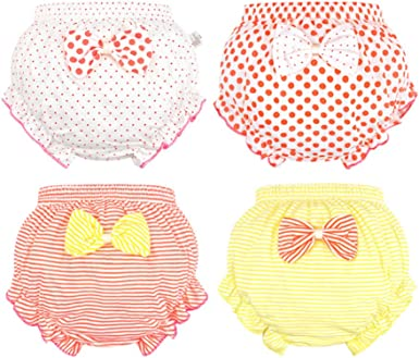 2 Pack Baby Infant Toddler Bloomer Shorts Lovely Bow Cotton Diaper Covers Briefs