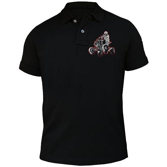 Männer und Herren POLO Shirt Quad Outdoor Hooligan (mit Rückendruck)
