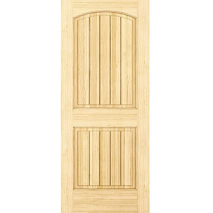 Amazon 2 Panel Door Interior Door Slab Solid Pine Arch Top
