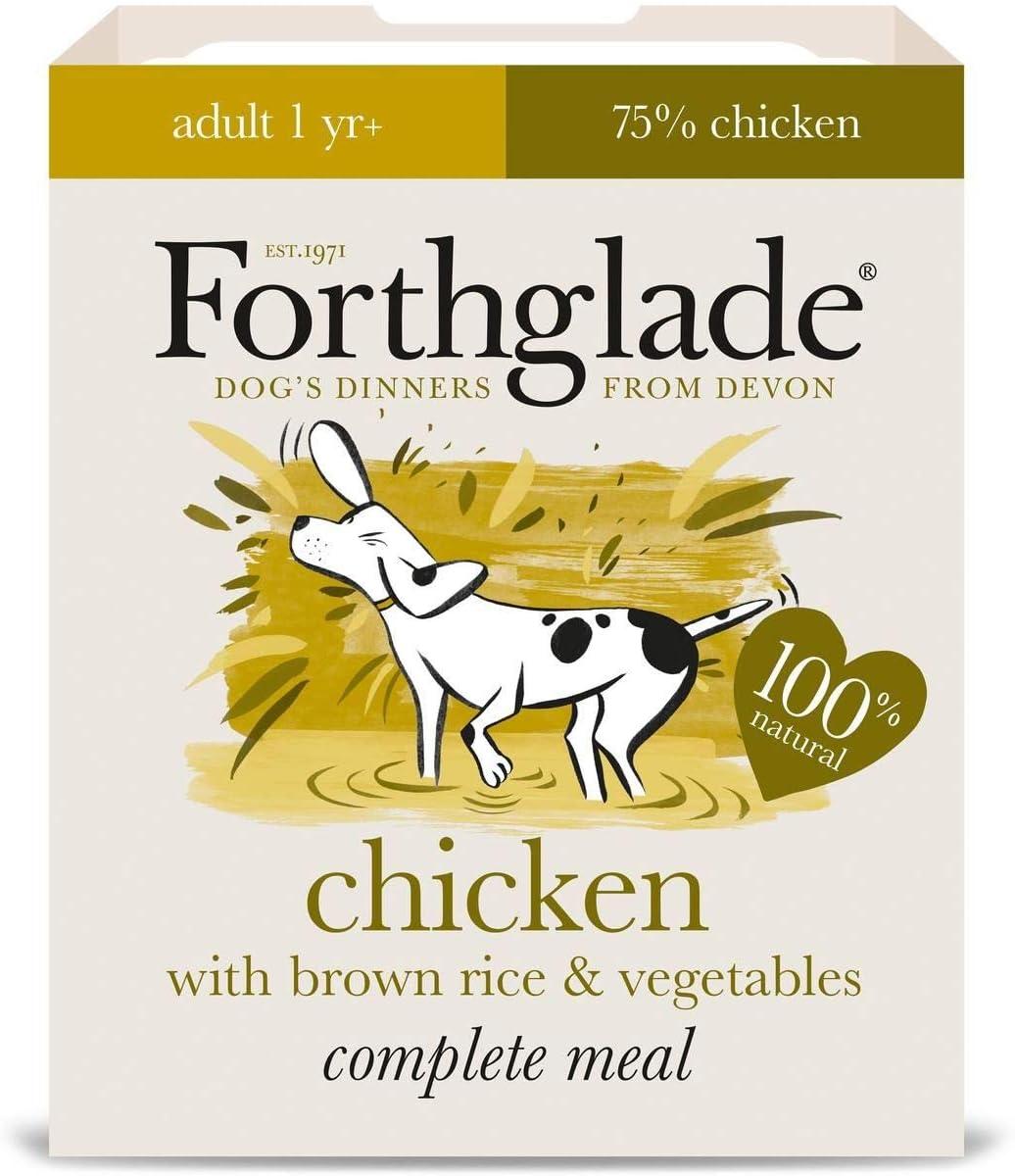 Forthglade - Pollo completo para adulto con arroz marrón y verdura, 18 x 395 g