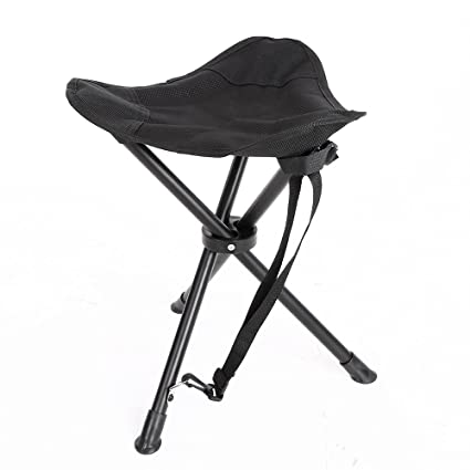 Enjoyable Folding Tripod Stool Portable Lightweight Slacker Camping Chair For Fishing Hunting Hiking Travelling Mountaineering Picnic Outdoor Stool Inzonedesignstudio Interior Chair Design Inzonedesignstudiocom