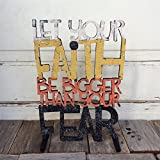 AGD Halloween Decor - Faith Bigger Than Fear Christian Decor
