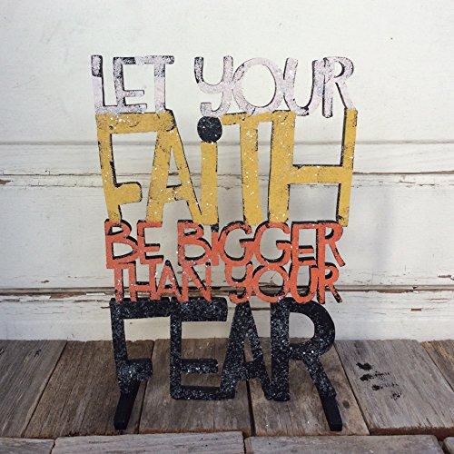 AGD Halloween Decor - Faith Bigger Than Fear Christian Decor by Agape Gifts Designs