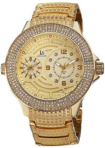 Men's Quartz Genuine Diamond Bracelet Watch JS80YG