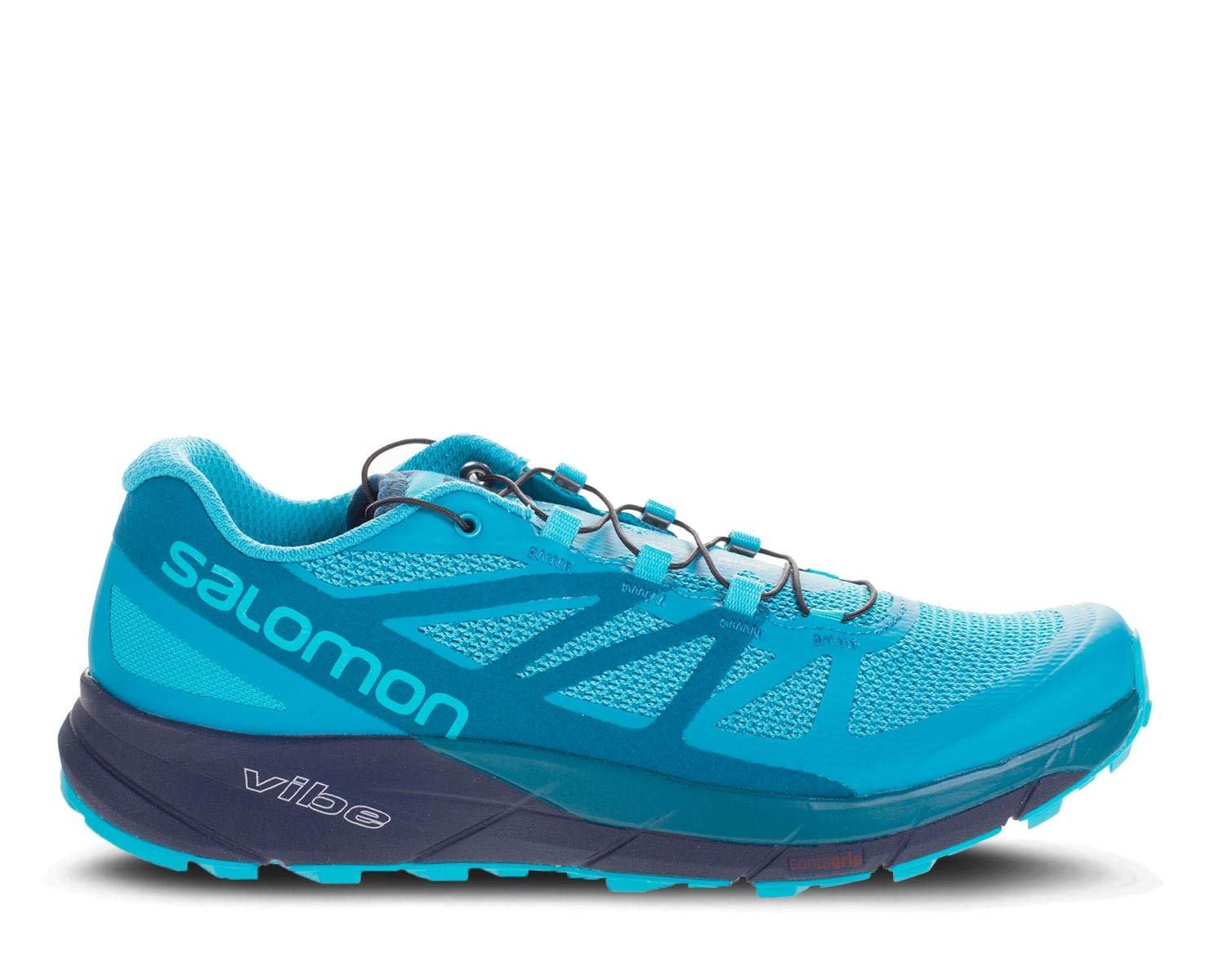 Salomon Sense Ride Running Shoe - Women's Blue Bird/Deep Lagoon/Navy Blazer 7 by Salomon (Image #6)