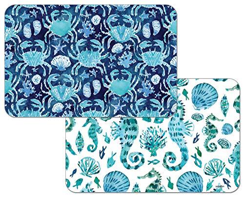 Counterart Reversible Decofoam Placemat - Ocean Fantasy Set of 4 (Place Ocean)