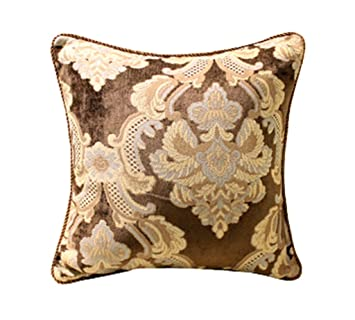 Amazon.com: SHARON-Throw - Cojín cuadrado decorativo de tela ...