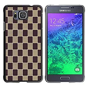 - Square Check Damier Checkered Pattern - - Monedero pared Design Premium cuero del tir¨®n magn¨¦tico delgado del caso de la cubierta pata de ca FOR Samsung GALAXY alpha G850 SM-G850F G850Y G850M Funny House