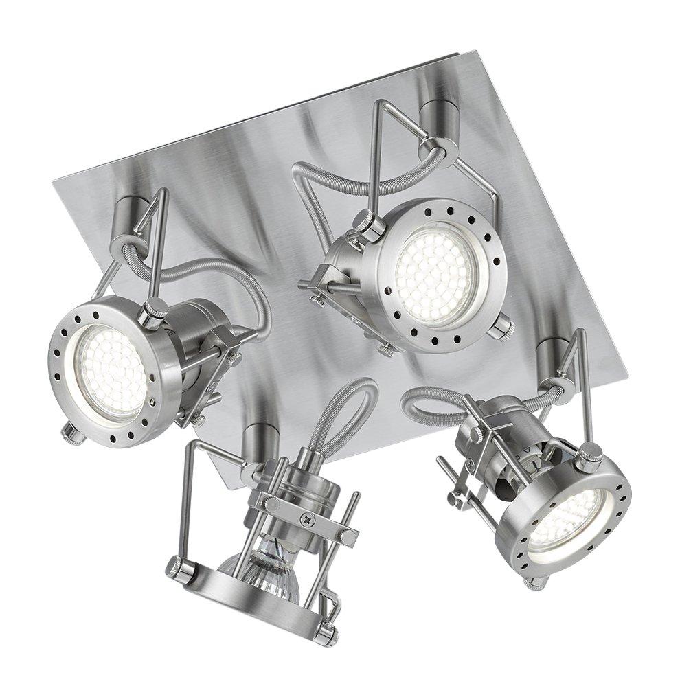 Khl LED Deckenlampe Quadrat Robot 4x3W warmweiss 22x22cm 81124007 [Energieklasse A+]