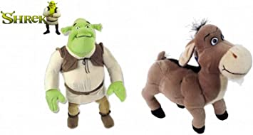 United Labels Pack 2 Peluches OGRO Y ASNO DE Shrek Burro (23 ...