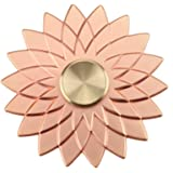 Cleefun Cool Rose Gold Metal Fidget Spinner Toy Prime High Speed, Quality Lucky Lotus Flower Hand Fidget Spinner, Relieving ADHD Anxiety Boredom EDC for Girls Kids Adults Friends and Families