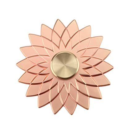 Cleefun Cool Rose Gold Metal Fidget Spinner Toy Prime High Speed Quality Lucky Lotus Flower