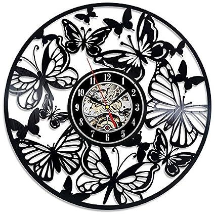 Türign® Relojes de Pared Reloj De Cuarzo Mariposa hueca mesa Relojes, Reloj, Reloj