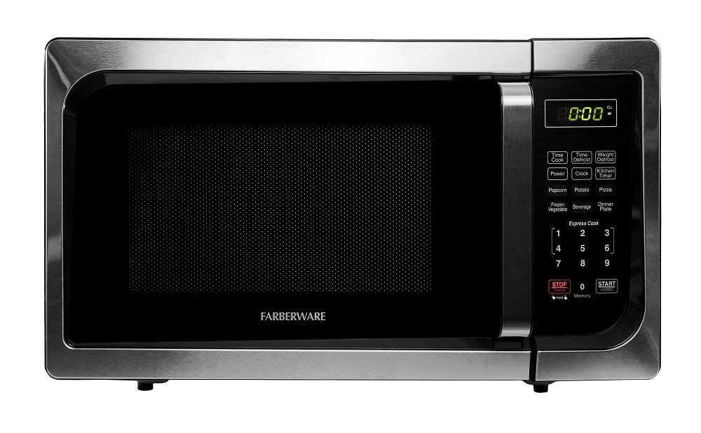Farberware Classic FMO09AHTBKC 0.9 Cu. Ft 900-Watt Microwave Oven with LED Lighting, Stainless Steel