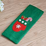 New Christmas Wine Bottle Bag Non-Woven Wine Bottle Set Decorations Christmas Stickers Three Wine Bottle Bag Gift Applique wine bag gloves section