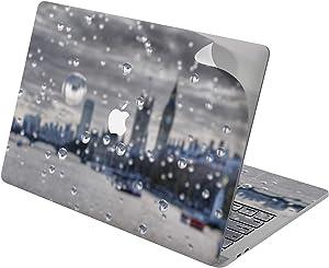 "Cavka Vinyl Decal Skin for Apple MacBook Pro 13"" 2019 15"" 2018 Air 13"" 2020 Retina 2015 Mac 11"" Mac 12"" Print London City Window Rainy Sticker Protective Design Laptop Raindrop Cover Big Ben Urban"
