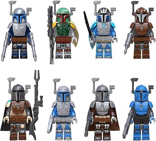 Star Wars Muñecos Y Figuras De Acción Estatua Modelo Mandaloriano Bounty Hunter Pack 8 Regalo para Niños 5cm: Amazon.es: Hogar