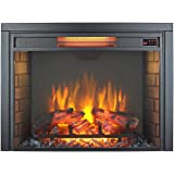 Innoflame 30 inch Embedded Electric Fireplace Insert Heater with Remote Control,1500W, Black